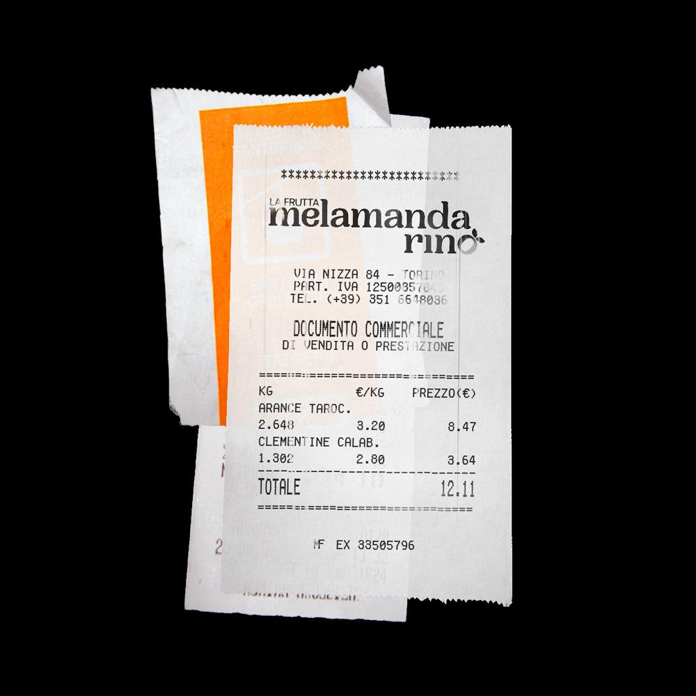 melamandarino - receipt
